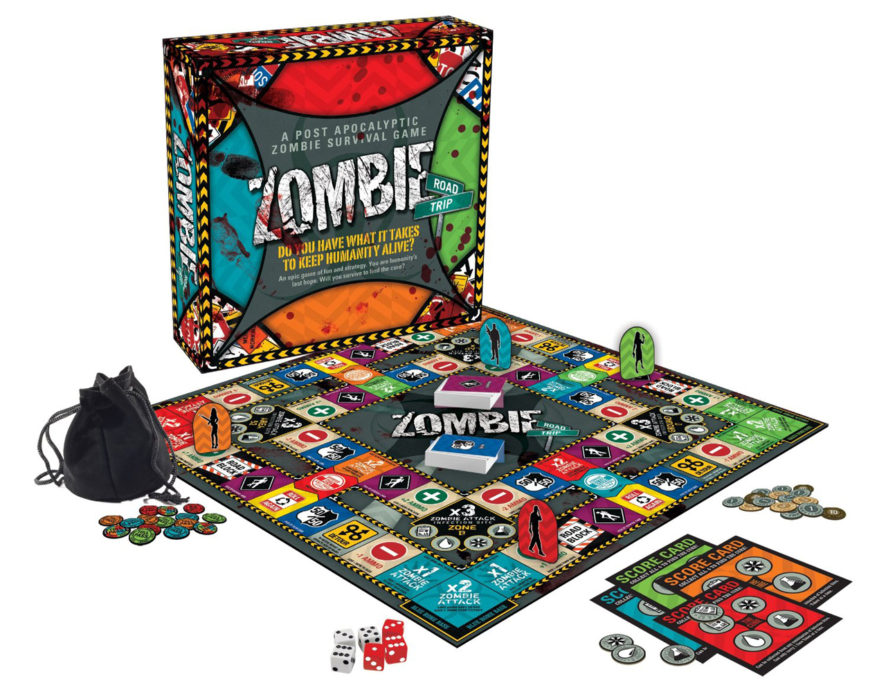 Zombie Board Games Zombie Road Trip Board Game