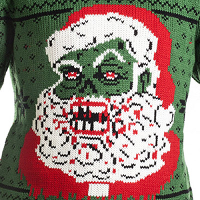 Christmas Zombie Santa.Zombie Santa Claus Christmas Pullover Sweater