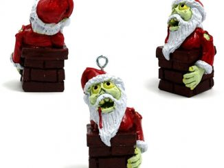 Zombie Santa Claus Christmas Ornament