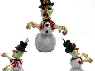 Zombie Snowman Christmas Ornament