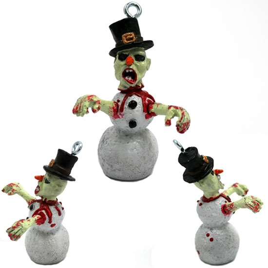 Zombie Snowman Christmas Ornament