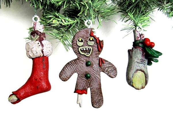 zombie stocking christmas ornament