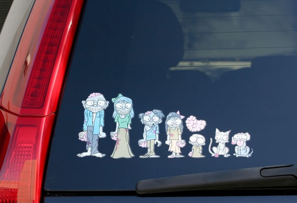 Zombie Window Stickers