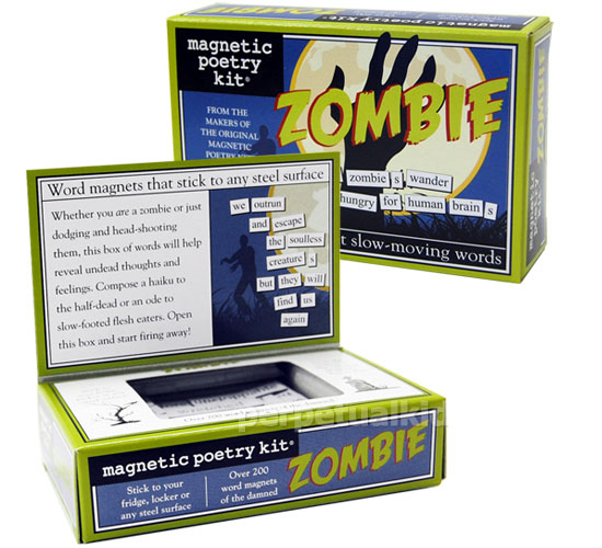 Zombie Word Fridge Magnets