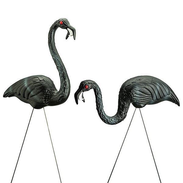 Zombie Yard Flamingos