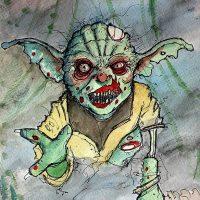 Zombie Yoda Art Print