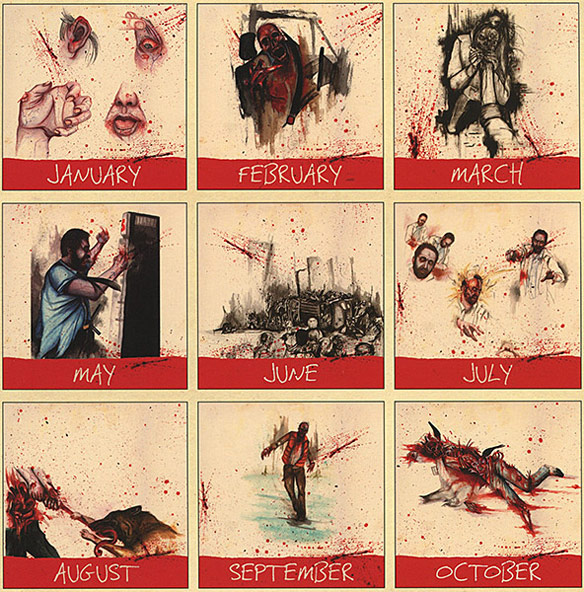 Zombies 2014 The Year of Infection Calendar