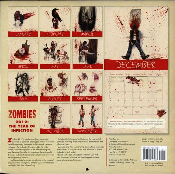 Zombies Wall Calendar