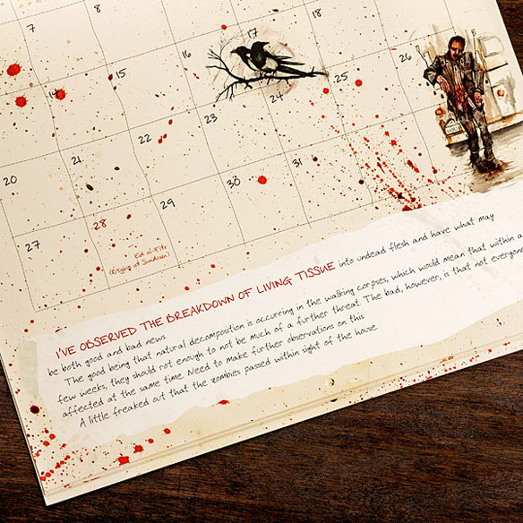 Zombies Year of Infection Calendar