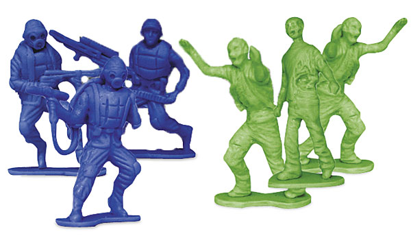 Zombies vs. Zombie Hunters Army Men Figures