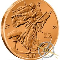 Zombucks Walker 1 oz Copper Round