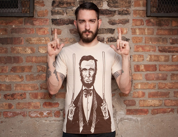 Abe Lincoln Guns T-Shirt