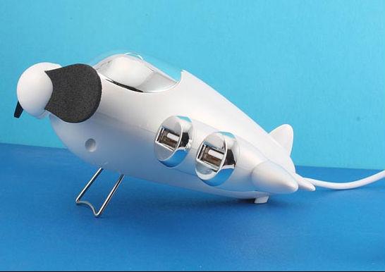 Airplane USB HUb with Fan