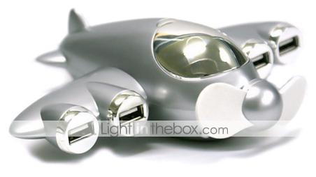 Airplane 4-Port USB 2.0 Hub