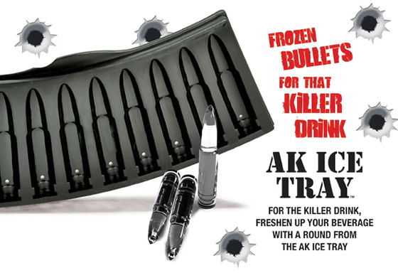 Bullet Shaped Ice Cubes Ak47 Bullet Ice Cube Tray