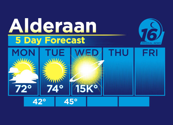 Alderaan Weather Forecast T-Shirt