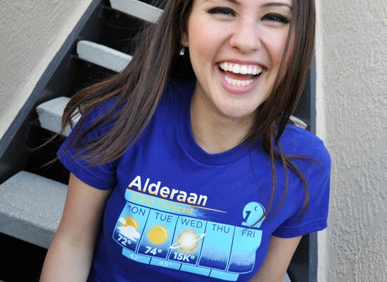 Alderaan 5 Day Forecast T-Shirt