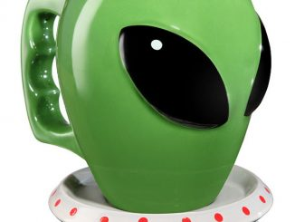 Alien Coffee Mug and Saucer