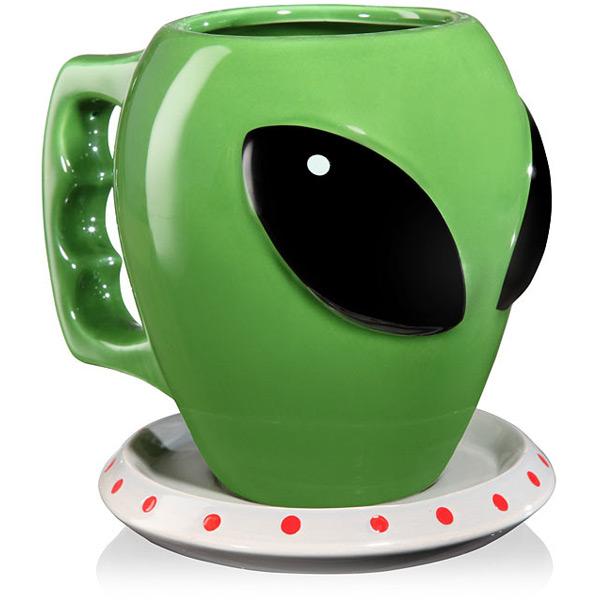 Alien Coffee Mug and Saucer
