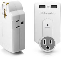 Aluratek USB Charger and Electrical Outlets