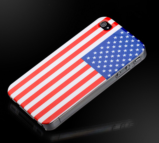 American Flag iPhone 4 Hard Case Cover