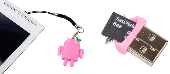 Android Robot Memory Card Reader
