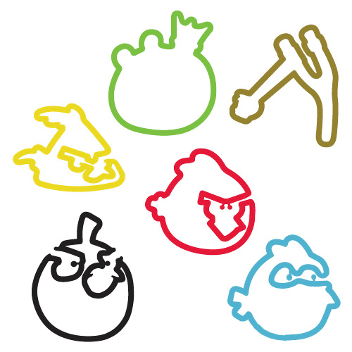 Angry Birds Silly Bandz