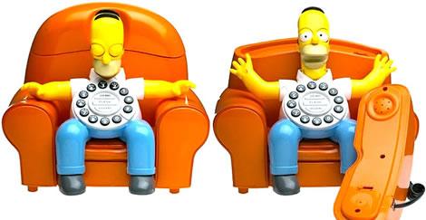 Animated Homer Simpson Phone