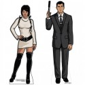 Archer and Lana Cardboard Stand-Ups
