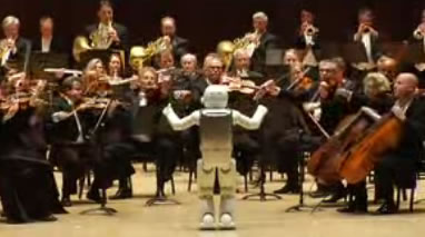 ASIMO Conducts Orchestra