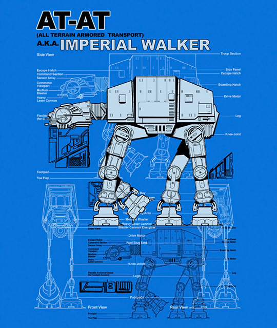 AT-AT Imperial Walker Schematic T-Shirt