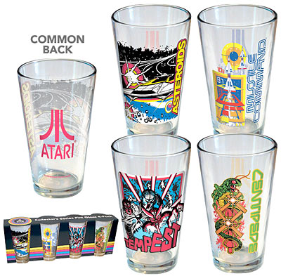 Atari Arcade Pint Glass 4-Pack