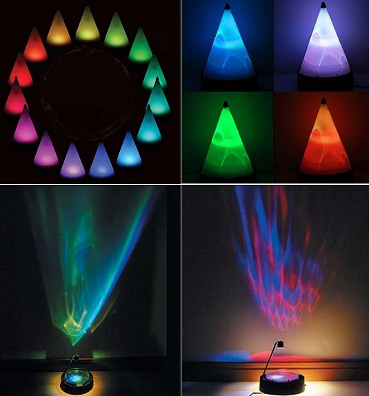 Colorful Aqua LED Projector