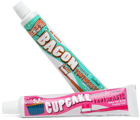 Bacon and Cupcake Toothpastes