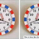 Barbershop Backwards Mirror Clock