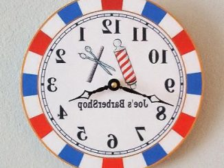 Barbershop Mirror Clock