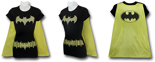 Batgirl Caped Costume Shirt