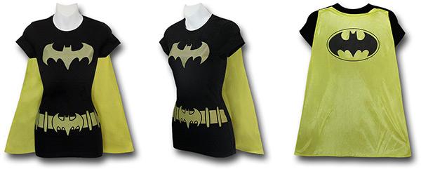 Batgirl Caped Costume Shirt