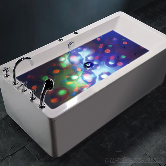 Underwater Bathtub Disco Lightshow