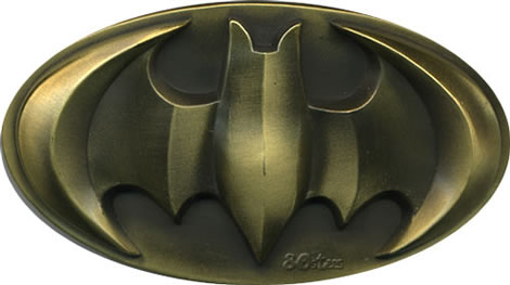 Antique Raised Batman Belt Buckle