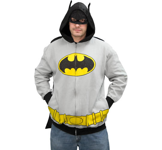 This Batman Costume Hooded Sweatshirt is based on the original gray Caped ...