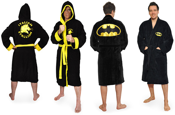 Batman and Rocky Balboa Bathrobes