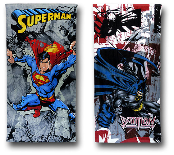 Batman and Superman Beach Towels