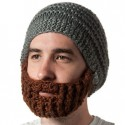 beard acrylic yarn hat