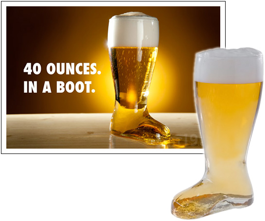 Giant Glass Beer Boot