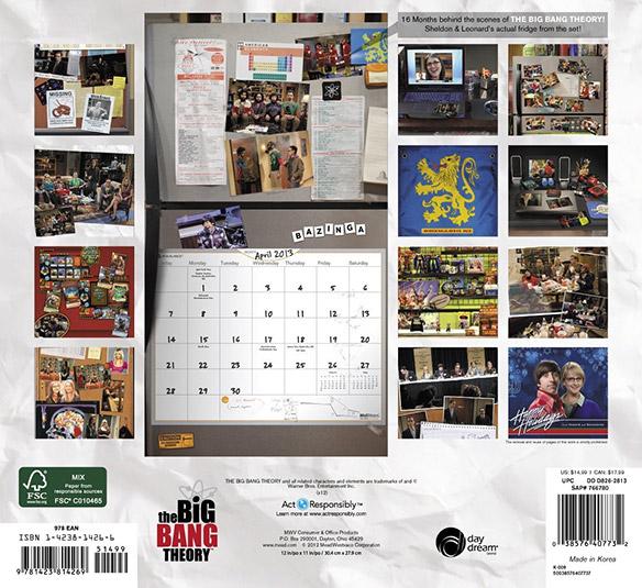 The Big Bang Theory 2013 Wall Calendar