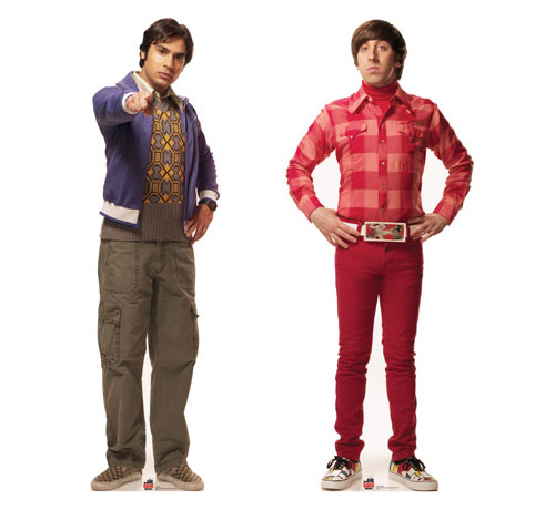 Big Bang Theory Raj and Howard Cardboard Cutout Standees