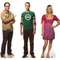 Big Bang Theory Sheldon, Leonard and Penny Cardboard Cutout Standees