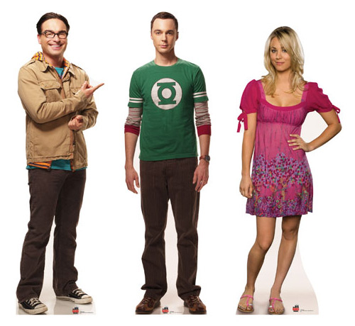 Big Bang Theory Sheldon Leonard and Penny Cardboard Cutout Standees