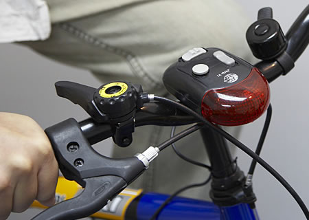 Bicycle Direction and Brake Lamp with 8-Tune Horn